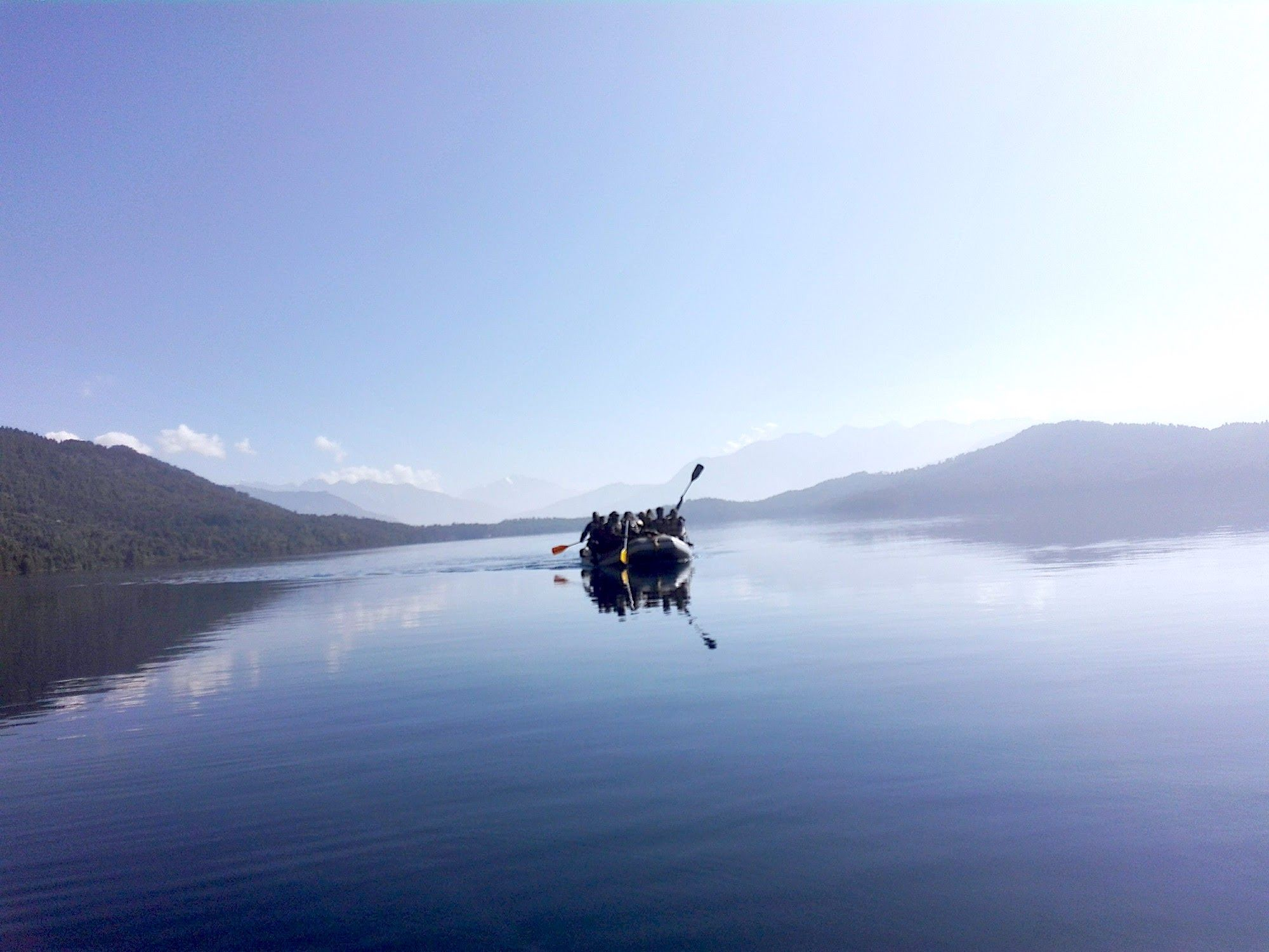 Boating at Rara Lake