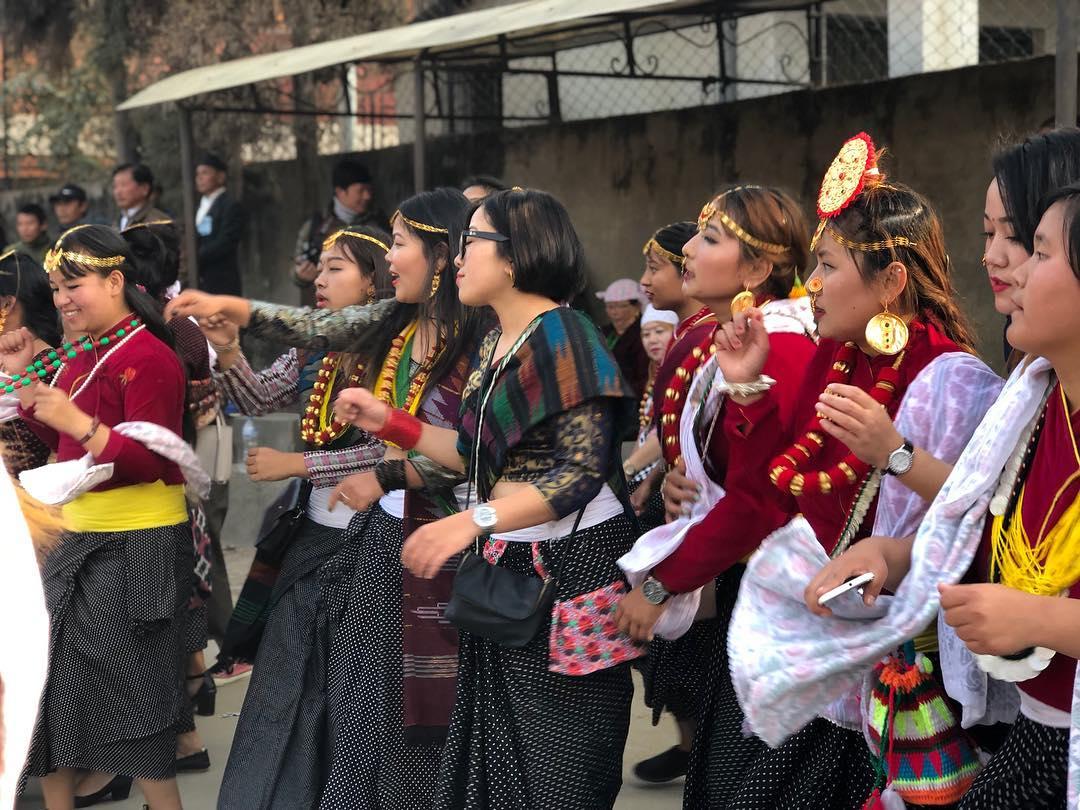 Nepali Girls participating in cultural program